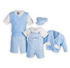 Blue Bunny Matching Boys Easter Outfits