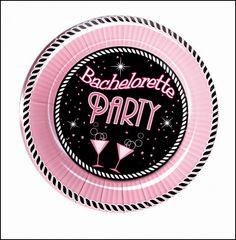 "7"" Bachelorette Party Plate Medium Size"