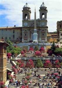 Spanish Steps in Rome Italy.