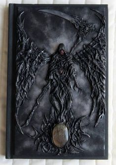 It's a unique notebook with handmade polymer clay cover - Darkness. Polymer Clay Art, Handmade Polymer Clay, Altered Books, Altered Art, Polymer Journal, Harry Potter Book Covers, Custom Book, Diy Notebook, Halloween Books