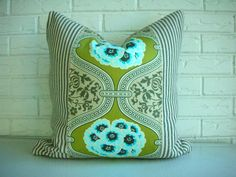 Decorative Pillow Cover  Throw PIllow  by habitationBoheme on Etsy, $52.00