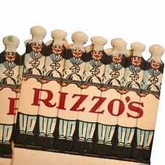 Rizzo's, c. 1940s  Feature matches