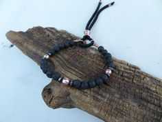 Lava Stone and Copper Bracelet Stacking by ColeTaylorDesigns
