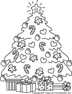 Christmas Tree Coloring PageGingerbread
