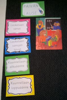 Alkuopettajat FB -sivustosta /Jenni Holm Learn To Read, Classroom Decor, Teacher, Writing, Education, Learning, School, Professor