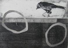 Printmaking :: Karin Ceelen :::: Etching and Photopolymer Intaglio. Little Bird.