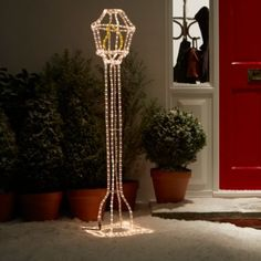 Light up your home with this White Soft Glow Freestanding Lantern Silhouette #ChristmasUnleashed #Lights