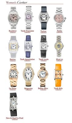 Cartier Luxury Watches Collection in 2020 Cartier Jewelry, Jewelry Watches, Cool Watches, Watches For Men, Men's Watches, Cheap Watches, Watches Online, Cartier Watches Women, Cartier Tank Solo