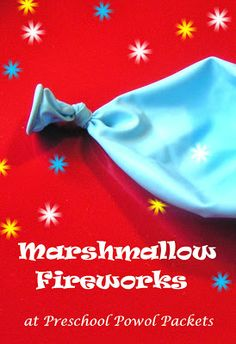 Marshmallow Fireworks ... great New Years fun!