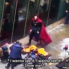 """"""" """"Benedict and Chiwetel filming Doctor Strange in London (x) - February 21st """" """""""