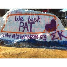 Proud to be a Sigma Kappa and support Alzheimer's and Pat Summit! From the Sigma Kappa Chapter at UTK - I helped paint this! Alpha Delta, Sigma Kappa, Theta, Basketball Coach, Football And Basketball, University Of Tennessee, East Tennessee, Come On Eileen, Fun Stuff