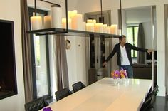 Piet Boon in his own kitchen with Kevin Reilly lamp