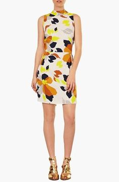 Love the print on this dress! Topshop Marigold Fit & Flare Dress