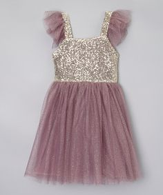 Look at this #zulilyfind! Plum & Gold Sequin Dress - Toddler & Girls by Little Miss Fairytale #zulilyfinds When she is a toddler :)