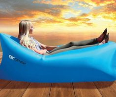 Inflatable outdoor loungers! (Click for price)