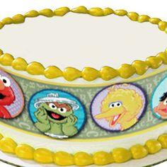 Sesame Street Round Edible Image Cake Decoration