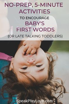 Get Baby to Talk with These No-Prep, Activities - Language Development - Toddler Learning Activities, Baby Learning, Therapy Activities, Infant Activities, Sensory Activities, Sensory Diet, Learning Toys, Teaching Baby To Talk, Teach Toddler To Talk