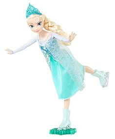 Disney Frozen Ice Skating Elsa Doll -Re-create the magical movie moment when Anna and Elsa ice skate to celebrate the end of a wintry spell, or make up new adventures of your own. Attach doll to base for easy ice-skating action. Roll her forward and her arms and legs move in elegant ice-skating form - just like she's on real ice! Features Elsa in her beautiful ice-skating fashion inspired by the movie.-