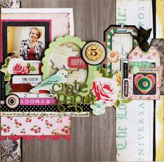 Christine Middlecamp's completely wonderful layered page!