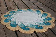 The Shore Penny Rug Wool Felt applique by TwistedKnickersInc