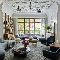 Inside a Colorful Manhattan Townhouse Where Brad Ford Perfectly Blends Old and New - 1stDibs Introspective Furniture Care, Furniture Sets, Mid Century Shelves, Coffee Room, French Apartment, Tudor Style Homes, Gambrel, French Oak, West Village