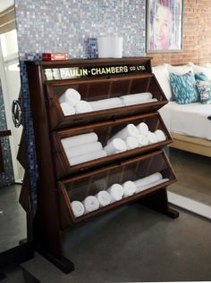 Fab towel storage