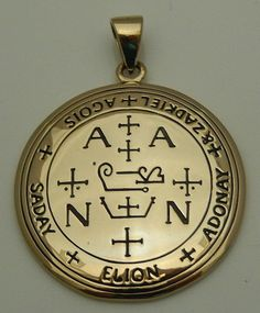 Archangel Zadkiel Talisman Gold tone Bronze Sigil of Zadkiel Angelic Pendant Archangel Zadkiel, Bronze Jewelry, Guardian Angels, Angels And Demons, Ancient Symbols, Runes, Sacred Geometry, Just In Case, Jewelry Collection