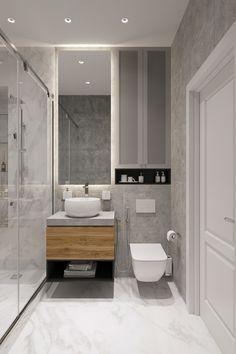 Family apartment on Behance Washroom Design, Bathroom Design Luxury, Bathroom Layout, Modern Bathroom Design, Bathroom Decals, Bathroom Wall, Master Bathroom, Small Bathroom Interior, Family Apartment