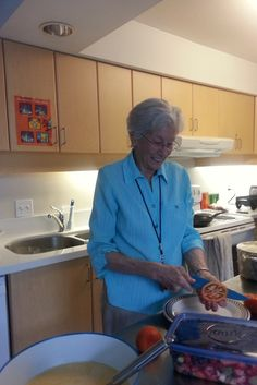 Susan Gibson     Hi, I volunteer at Covenant House Vancouver on Saturday's and it has quickly become my favorite day of the week. Saturday is brunch day in ROP, a day where our youth help prepare the brunch.     #Givewherewelive