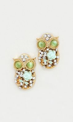 Mintylicious Owl Earrings #mint #needthis