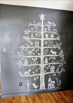 Chalk board Christmas tree