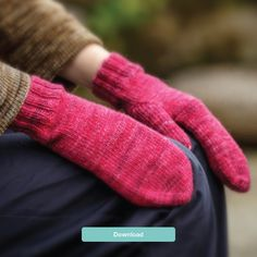 FREE Fyberspates mitten knitting pattern - download it today at LoveKnitting!