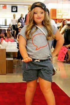 Model With Down Syndrome Kayla Kosmalski Walks Runway For Gap Kids
