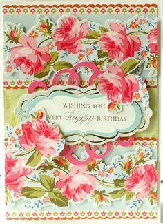 © Anna Griffin, Inc. Bouquet Border Stickers