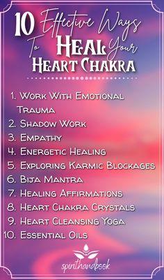 Spiritual Cleansing, Spiritual Meditation, Chakra Meditation, Spiritual Awakening, Heart Chakra Healing, Crystal Healing, Chakra Meanings, Anahata Chakra, Healing Affirmations