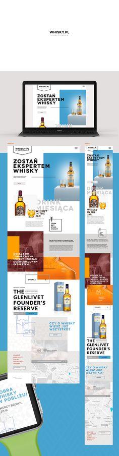Whisky.pl website concept on Behance