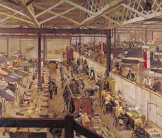 Anna Airy, An Aircraft Assembly Shop, Hendon