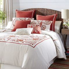 The name implies nobility—and for good reason. Our Rambagh Collection of bedding is particularly sumptuous. Made of pure, soft, linen-colored cotton, each piece features intricate embroidery and an appliqued paisley design in shades of gold and rust. Thinking it's time to give your bedroom an upgrade? It's your palace, so you get to rule. (And pile on as many decorative pillows as you like.)