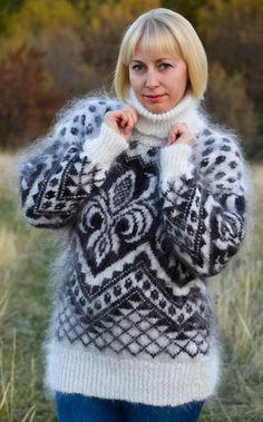 Mohair Sweater, Turtle Neck, Sweaters, Fashion, Moda, Fashion Styles, Sweater, Fashion Illustrations, Sweatshirts