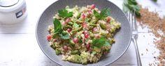 Qooking.ch | Boulgour en salade vegan/ detox Guacamole, Potato Salad, Potatoes, Ethnic Recipes, Food, Fruits And Veggies, Salads, Bulgur, Recipes