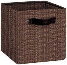 BelleVesta Woven Vinyl Storage Cube, Chesnut BelleVesta Http://www.amazon.
