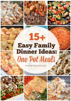15+ One Pot Meals for Easy Family Dinners! via momendeavors.com