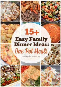 50 One Pot Meals for Easy Family Dinners! via momendeavors.com