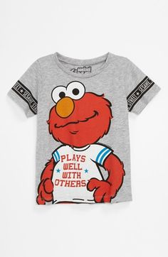 Mighty Fine 'Elmo Plays Well' T-Shirt (Toddler) available at #Nordstrom