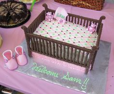 baby shower food | Baby shower crib cake | Frazi\'s cakes