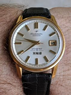 "Vintage '65 Seiko Seikomatic Weekdater JDM Watch, 6206-8980, ""Proof,"" Runs Slow #Seiko"