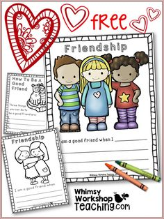 Promote kindness in your classroom by using these ideas and free friendship writing templates.