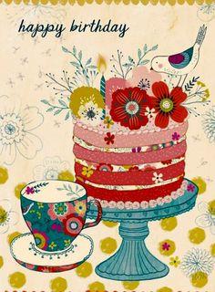 "Birthday Quotes : Rebecca Jones ""Garden Bird Collection"" for Madison Park Greetings Happy Birthday 1, Birthday Greetings For Facebook, Happy Birthday Messages, Happy Birthday Quotes, Happy Birthday Images, Birthday Pictures, Friend Birthday, Vintage Birthday Cards, Birthday Greeting Cards"