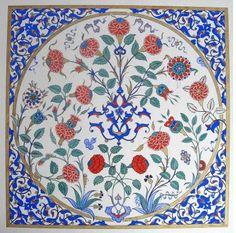 SÜHEYL ÜNVER, GÜLBÜN MESARA, AHMET YAKUPOĞLU VE… MERHABA SANAT (2)… Tile Murals, Tile Art, Islamic Tiles, Ottoman, Turkish Tiles, Islamic World, Blue Tiles, Pottery, Tableware