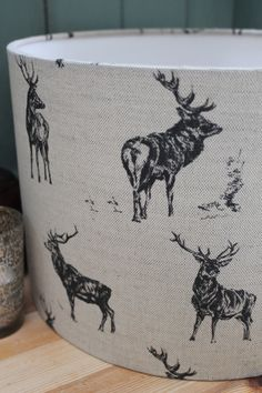 Stags Lamp shade by RachelBonas on Etsy